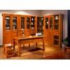 朗祺家具 非洲红翅木实木书柜 书台
